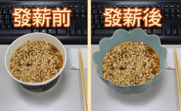 故宮臉書小編這樣吃泡麵,讓網友紛紛按讚。(圖擷自「故宮精品」臉書粉絲頁)