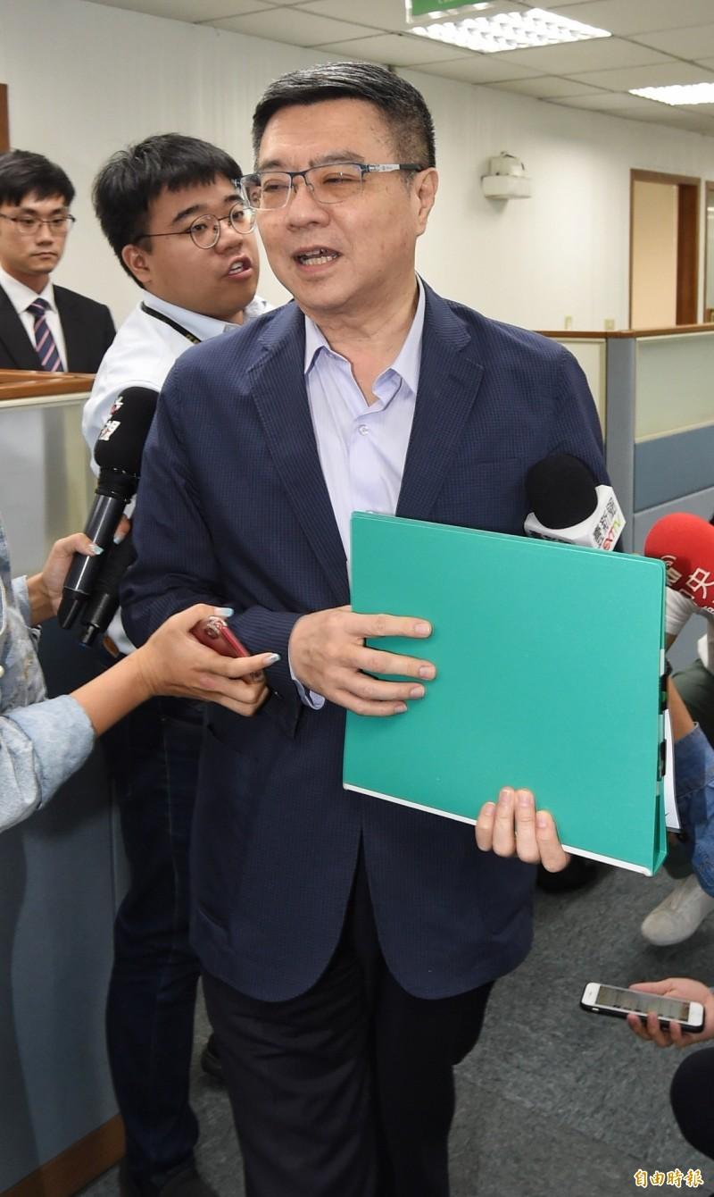 民進黨黨主席卓榮泰表示,這是一個做事的時代,不是鬥智時代。(記者劉信德攝)