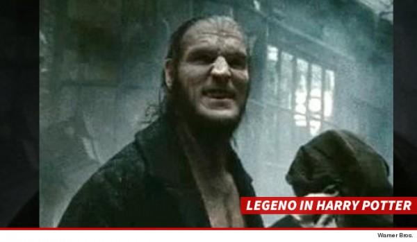 在電影哈利波特中,列格諾飾演狼人首領焚銳-灰背。(圖擷取自TMZ網站)