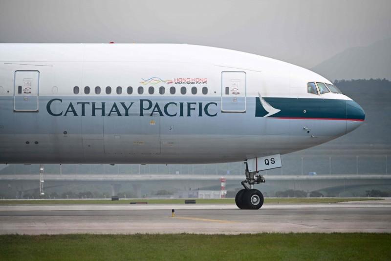 國泰航空昨傍晚再度向員工發內部郵件,表明禁止員工參與9月初的罷工行動,違者可能遭到解僱。(法新社)