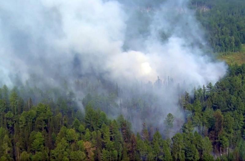 俄國西伯利亞日前傳出大規模森林野火,影響面積逾430萬公頃,至今未滅。(美聯社)