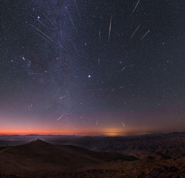 今年的獵戶座流星雨將於今晚進入最大期,根據台北市立天文館的資料顯示,每小時可以看到20顆流星。(資料照,北市天文館提供)