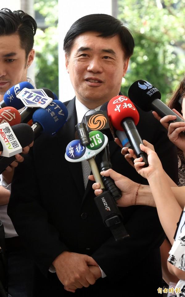 國民黨副主席郝龍斌今天接受媒體訪問時表示,張承中是忠貞國民黨員,已和他接觸過,有徵召他參選立委的可能,目前在談選區。(資料照,記者劉信德攝)