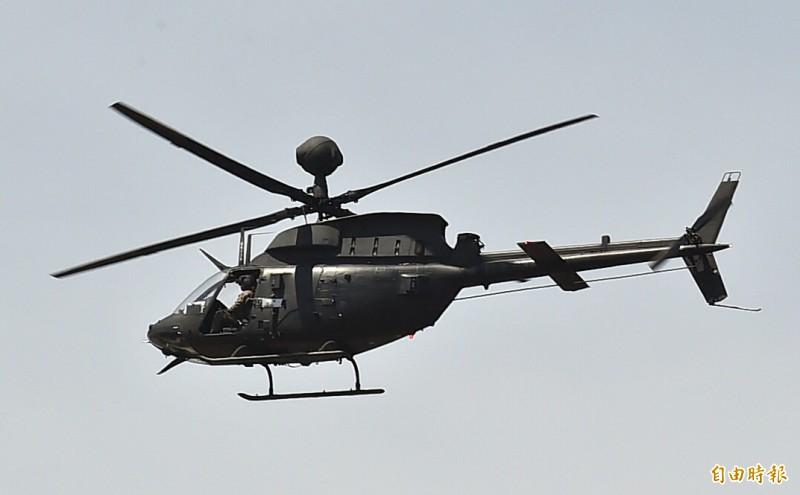 一架OH-58D戰搜直升機今傳墜落。圖為同機型飛機。(資料照)