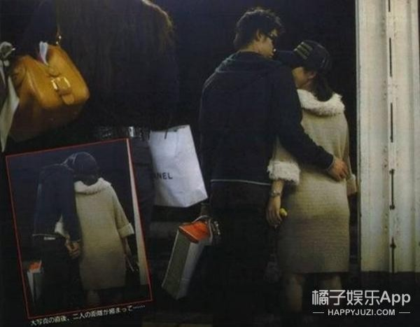 福原愛在2008年被拍到和錦織圭在街頭擁吻 。(圖取自網路)