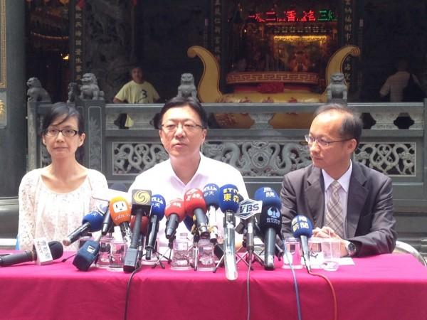 黃景泰被國民黨廢提名,今天宣布參選到底!(記者盧賢秀攝)