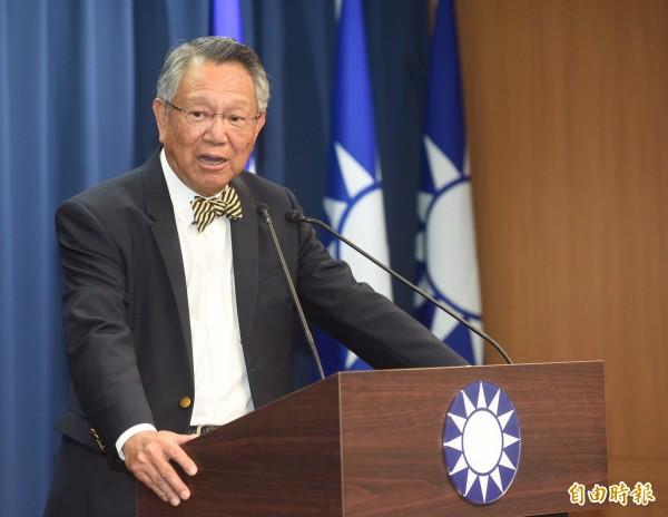 國民黨副主席詹啟賢。(資料照,記者叢昌瑾攝)
