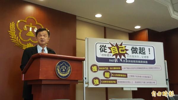 法務部長邱太三將於22日前圈選出3名新任檢察長。(資料照)