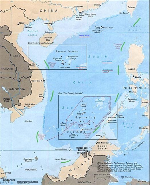 南海仲裁案結果今天出爐,荷蘭海牙常設仲裁法院裁定菲律賓贏得仲裁案,否定中國「九段線」權利。(圖擷自《維基百科》)