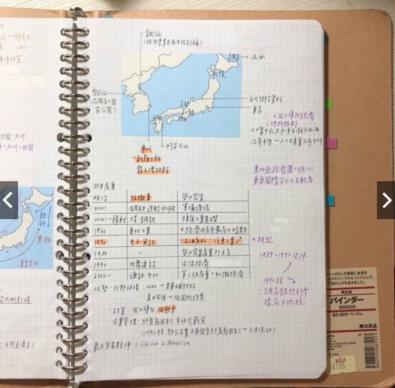 「全彩印北一女筆記」以清楚的全彩印刷,加上手寫筆記的真實溫度,在網路賣場上賣破4100組。(圖取自蝦皮賣場angelina1103)