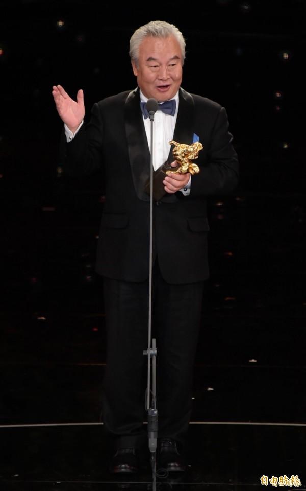 來自中國的上一屆金馬影帝涂們昨天應邀頒獎時聲稱「中國台灣金馬獎」惹議。(資料照)