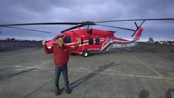 706黑鷹直升機2月意外墜機。(資料照)