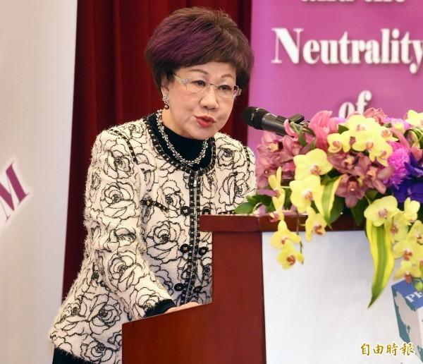 前副總統呂秀蓮日前發聲明宣布,跟民進黨說Bye Bye。(資料照)