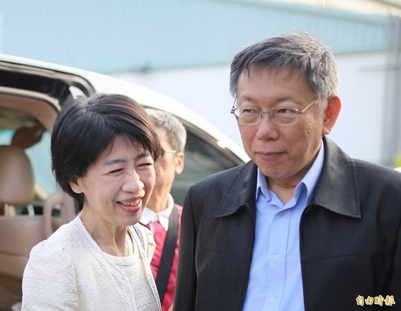 台北市長夫人陳佩琪今天在臉書爆料說,去年把房子拿去抵押2千萬打選戰,因房貸有指定用途,其實是以先生的名義申請信貸,然後再以太太名下的房子當擔保品,還說利息比純房貸高。(資料照)
