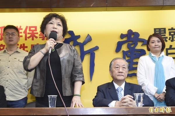 新黨政黨票沒過5%,葉毓蘭確定敗選。(資料照,記者叢昌瑾攝)