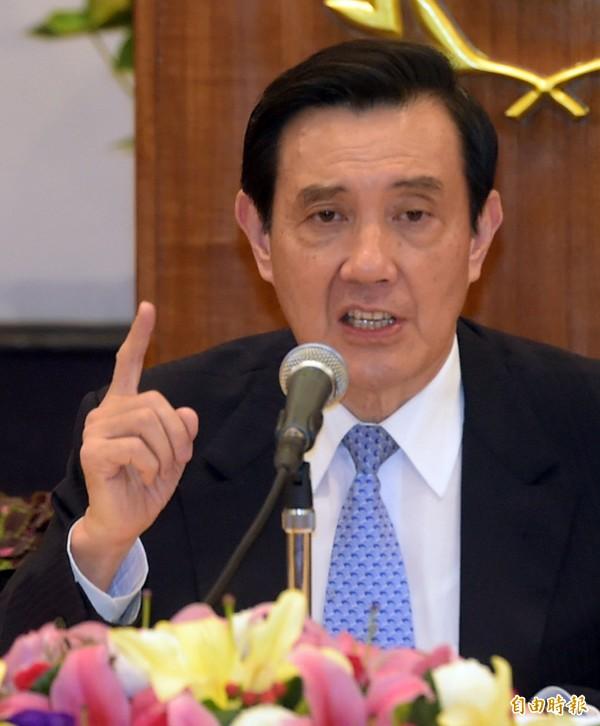 總統馬英九13日召開記者會,說明馬習會。(資料照,記者王敏為攝)