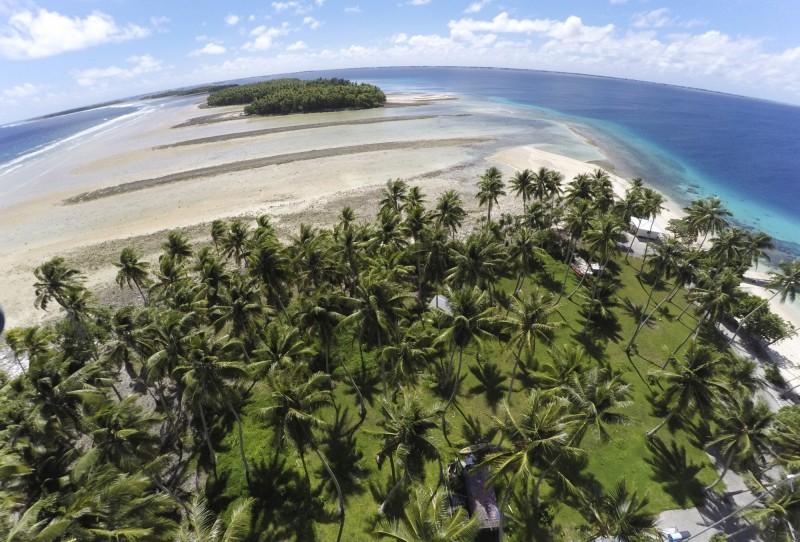 太平洋馬紹爾群島的輻射濃度,竟然比發生核洩漏事故的福島和車諾比還要高。圖為馬紹爾群島一景。(美聯社)