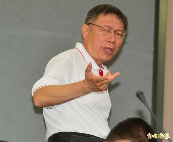 台北市長柯文哲。(資料照,記者王藝菘攝)