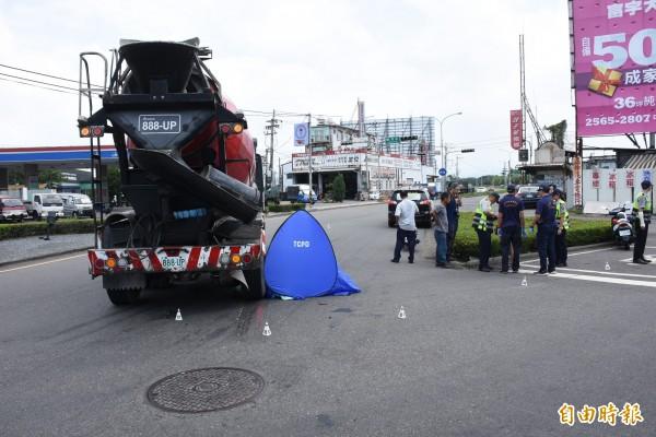 車禍現場。(資料照,記者李忠憲攝)