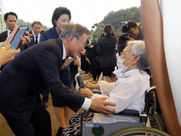 南韓首次舉行慰安婦紀念活動。(歐新社)