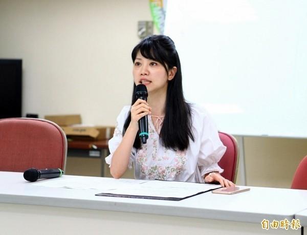 民進黨台北市議員高嘉瑜上月28日上政論節目談到柯文哲「花名冊」風波時,認為若沒有一刀斃命的證據,對黨是種傷害。(資料照)