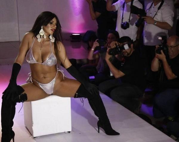 25歲的柯特斯是巴西今年的美臀小姐冠軍。(圖片取自每日郵報)