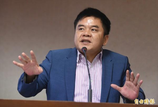 民進黨立委莊瑞雄鐵口直斷,朱在選前兩週絕對會辭市長。(資料照,記者劉信德攝)