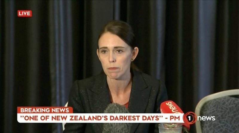 紐西蘭總理阿爾登(Jacinda Ardern)稱今日是「紐西蘭最黑暗的一天」。(路透)