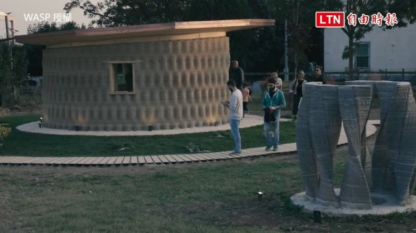 由義大利公司建造的3D列印屋。(授權:WASP)