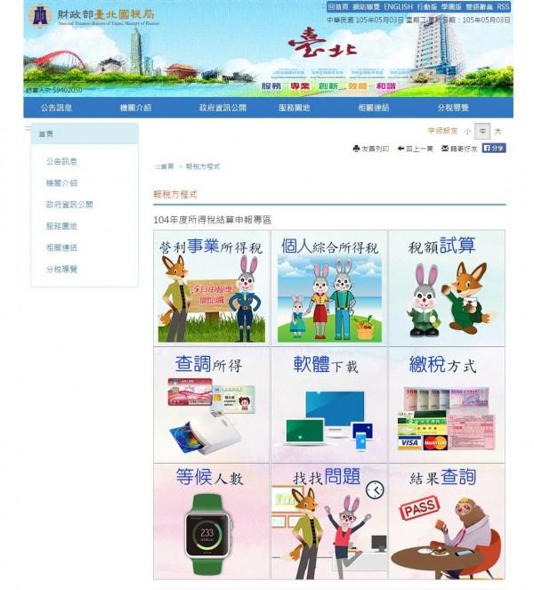 漫畫家鍾孟舜察覺國稅局的報稅網頁,涉嫌抄襲迪士尼知名動畫《動物方城市》角色造型。(取自鍾孟舜臉書)