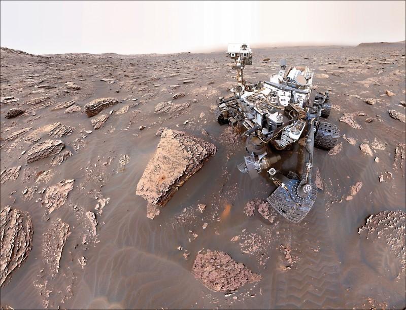 火星探測器「好奇號」。(歐新社)