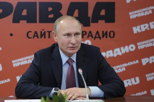 俄羅斯總統普廷稱讚北韓領導人金正恩,「他是位精明能幹且成熟的政治人物。」(美聯社)