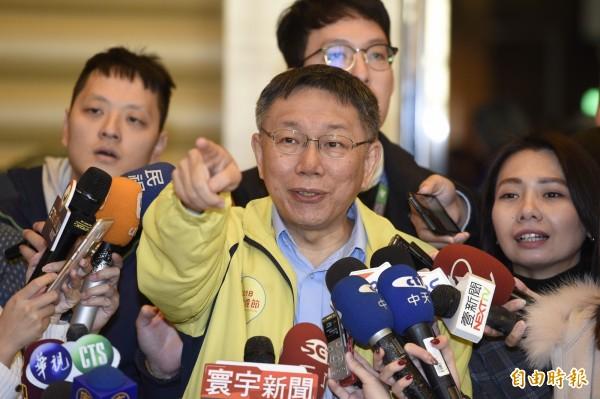 對於段宜康用「一隻眼睛的鹿」做比喻,台北市長柯文哲語氣不耐直言,「算了,不想批評他們,不要再喊獨立,又在中國做生意,我最討厭這種人。」(記者叢昌瑾攝)