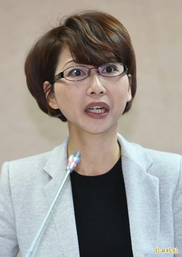 針對外界對新內閣人選的質疑,民進黨立委陳亭妃認為「這是非常穩健的牌」。(記者張嘉明攝)