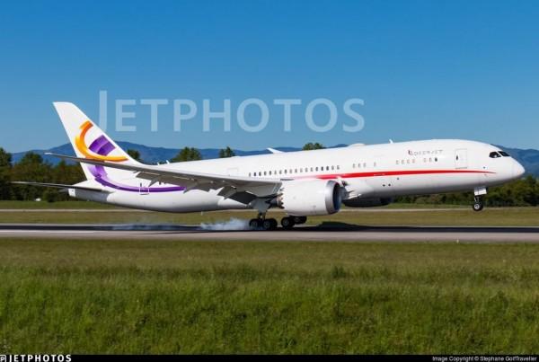 郭文貴日前爆料,王岐山以海航集團的錢購入787飛機做為個人家族使用。圖為波音787飛機外觀,示意圖,非文中所指飛機。(圖取自推特)