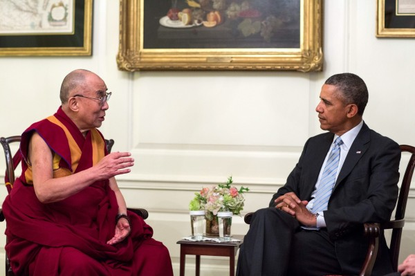 歐巴馬將與達賴喇嘛會面,中國對此提出強烈抗議。(歐新社)