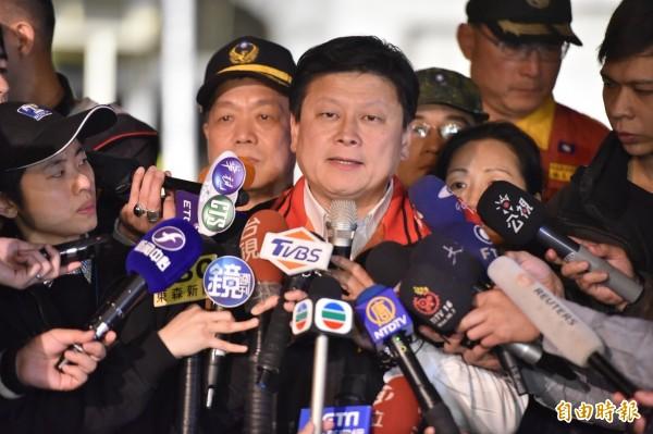 花蓮縣長傅崐萁(如圖)表示,206花蓮地震收到的捐款將交由善款監督委員會處理,並由中華民國紅十字會總會長王清峰出任召集人。(資料照)