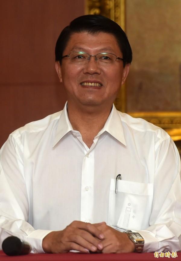 國民黨總統參選人洪秀柱辦公室發言人謝龍介。(記者簡榮豐攝)