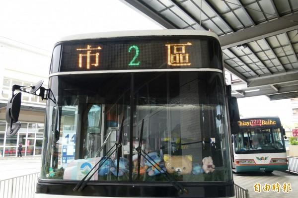 因為候車時間太長,嘉義人通常習慣騎著機車或腳踏車趴趴走,所以在嘉義公車的載客率低,搭乘的幾乎是外地來的遊客。(資料照,記者蔡宗勳攝)