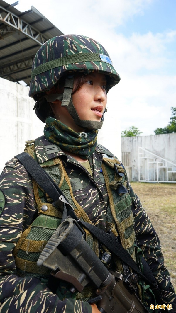 中尉輔導長張泰晴。(記者陳彥廷攝)