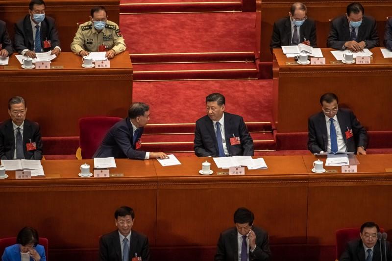 中國全國人民代表大會計畫通過「香港版國安法」,引發國際議論。(歐新社)