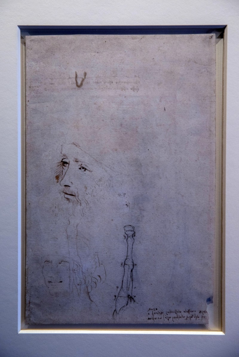 該畫作被證實是達文西過世前不久,助理筆下的肖像畫,目前由英國王室所收藏。(美聯社)
