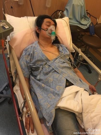 自稱「台獨剋星」的藝人黃安曾向中國舉報多位台灣藝人,日前卻發生心肌梗塞,目前在台就醫。(照片翻攝自黃安微博)