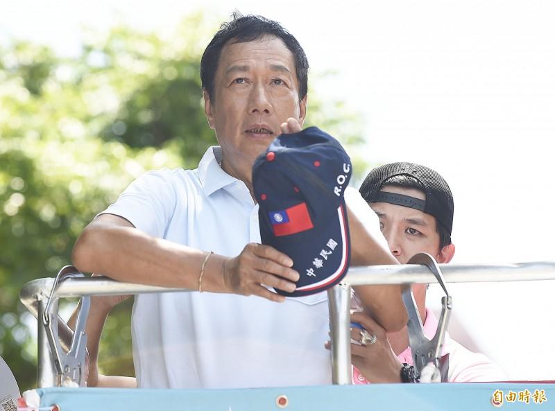 劉宥彤說,最近郭媽媽身體有狀況,郭台銘有去醫院關心媽媽的身體狀況,昨晚只有通電話也沒有開會,希望大家早點休息。(資料照)