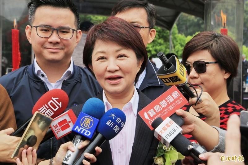 台中市長盧秀燕今(27)日曬出施政3個月以來的成績。(資料照)