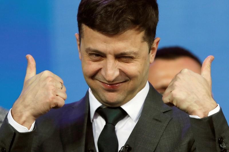 喜劇演員、政治素人澤倫斯基當選烏克蘭總統,對烏俄關係帶來變數。(路透社)