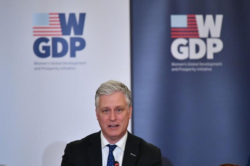 美國國家安全顧問歐布萊恩(Robert O'Brien)周二表示,他對於美國與塔利班的停火協議抱持謹慎樂觀的態度。(法新社)