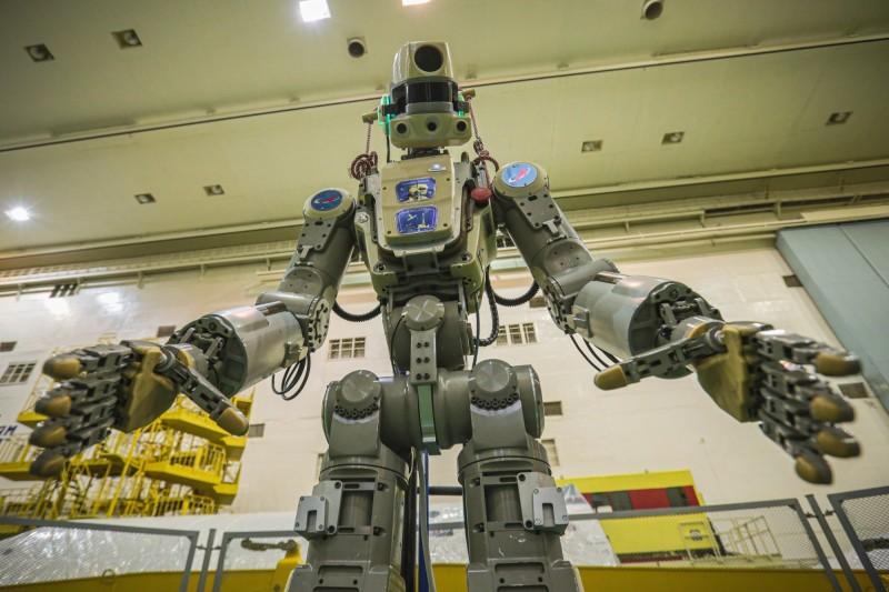 俄羅斯今(22)日發射載有「類人型機器人」Fedor的無人火箭,要送它到國際太空站。(美聯社)