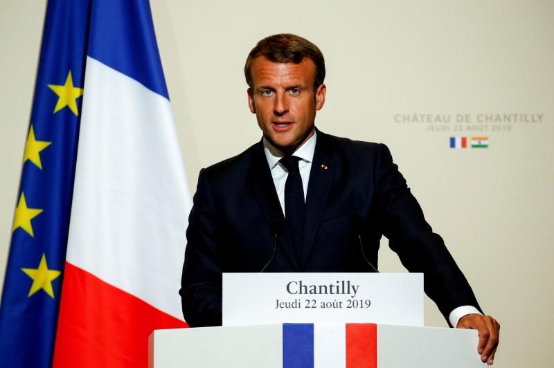 法國總統馬克宏今日宣布,今年的G7峰會確定不發表聯合公報。(法新社)
