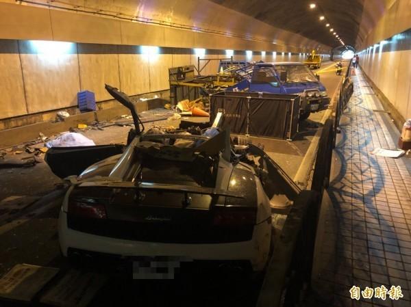 游瀚甯駕駛藍寶堅尼在台北市自強隧道內發生嚴重車禍,造成2死3傷的慘劇。(資料照)